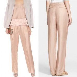 Rag & Bone Blush Pink Sally Silk Pants, size 12